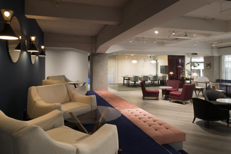 Sofas and meeting room